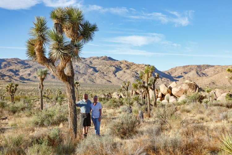Linda and I next to a Joshua Tree