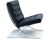 Barcelona Chair Hand Polished Stainless - hivemodern.com