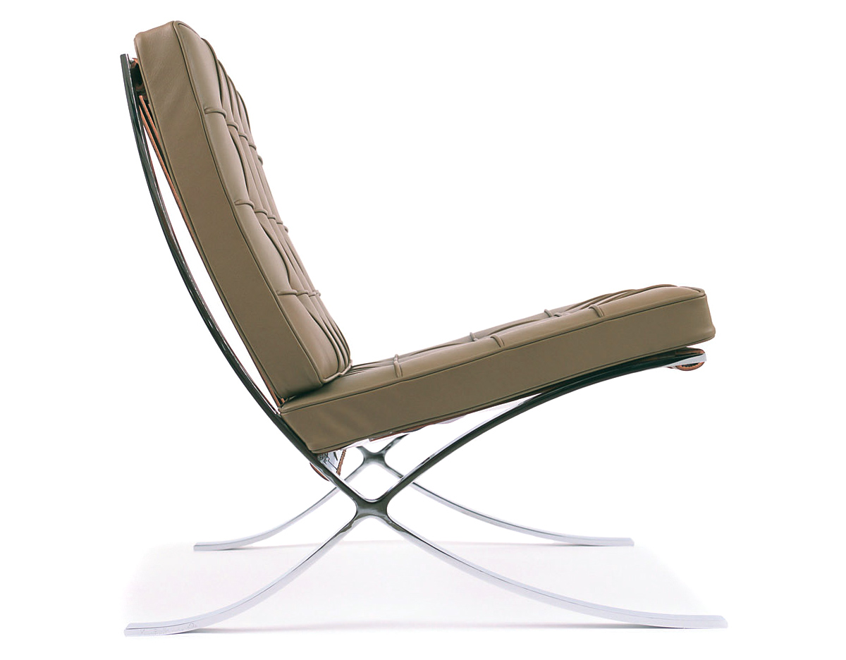 Barcelona Sessel Knoll Barcelona Chair Hand Polished Stainless