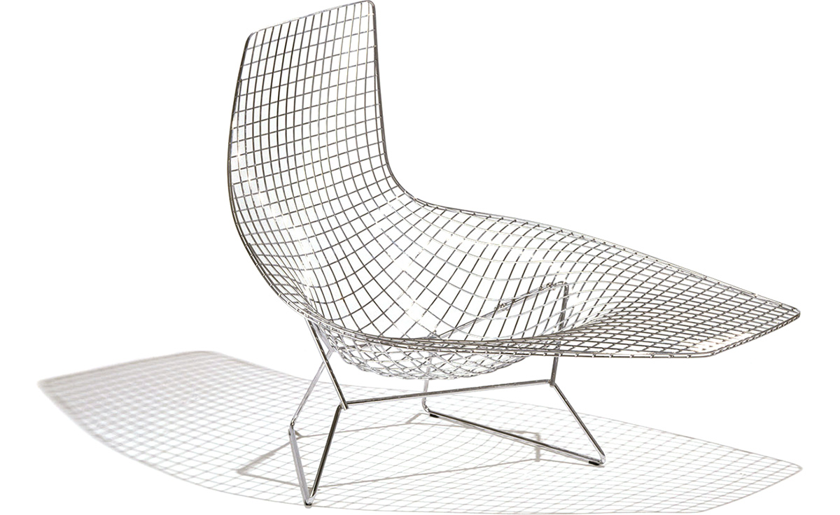Chaise Rocking Chair Bertoia Asymmetric Chaise Lounge