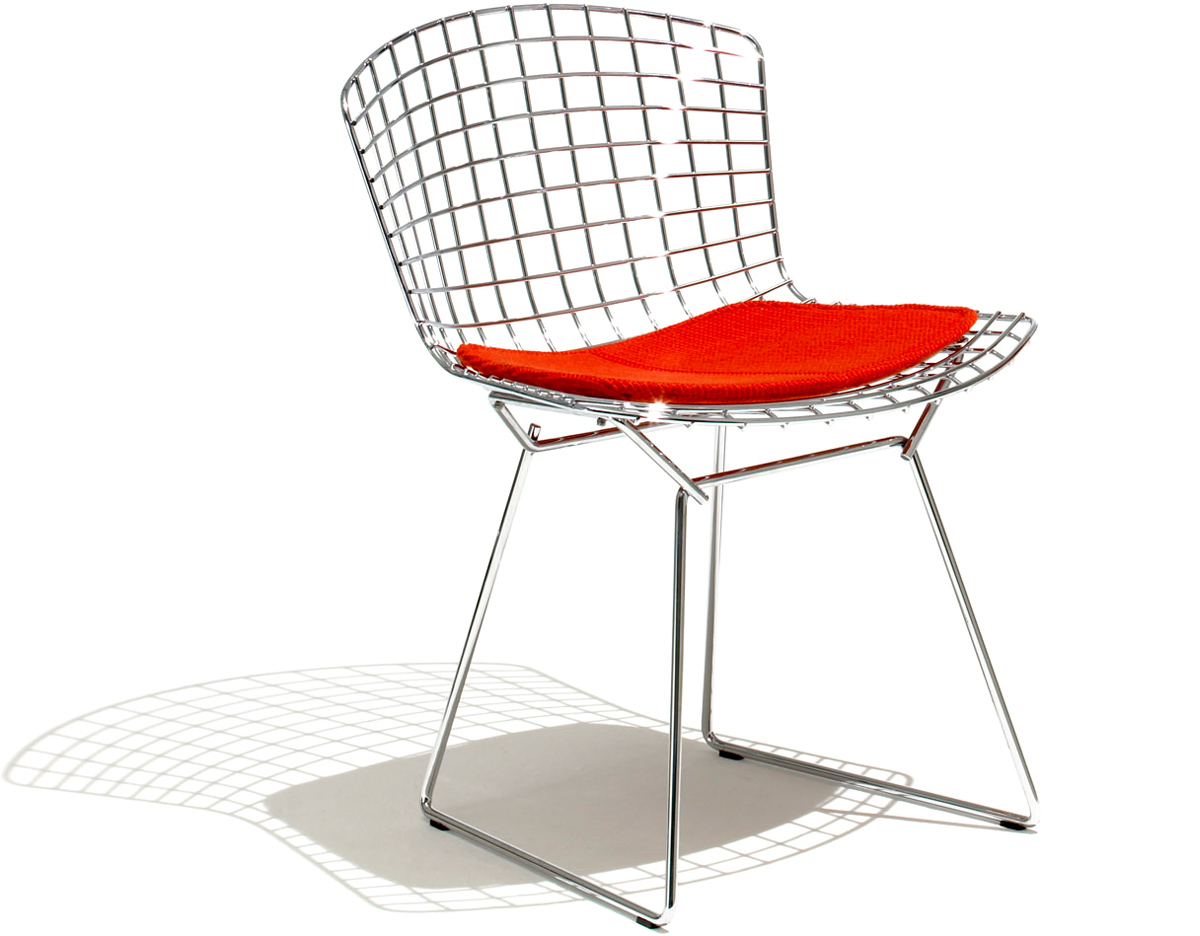 Harry Bertoia Bertoia Side Chair With Seat Cushion Hivemodern
