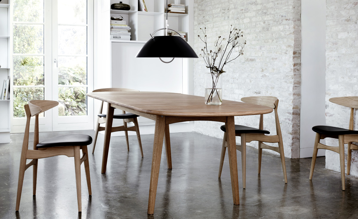 Designer Panton Chairs Hans Wegner Ch006 Table Hivemodern