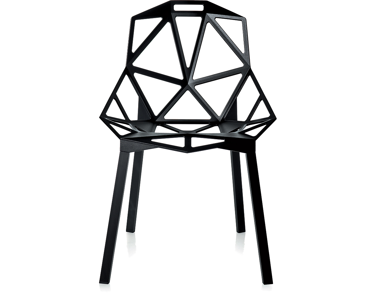 Chair One Grcic Chair One With Stacking Base Two Pack - Hivemodern.com