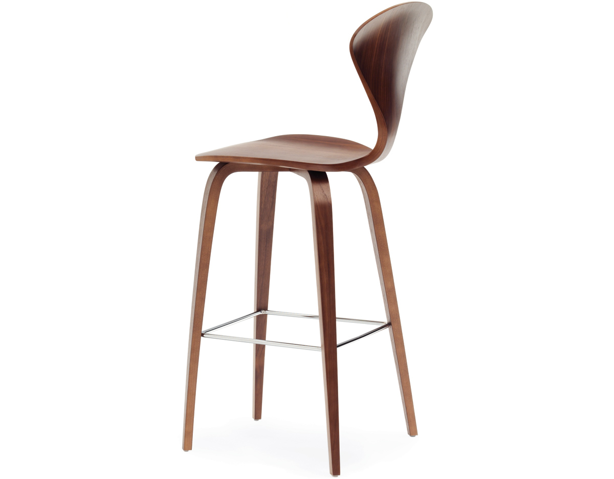 Modern Wood Bar Stool Cherner Wood Leg Stool Hivemodern