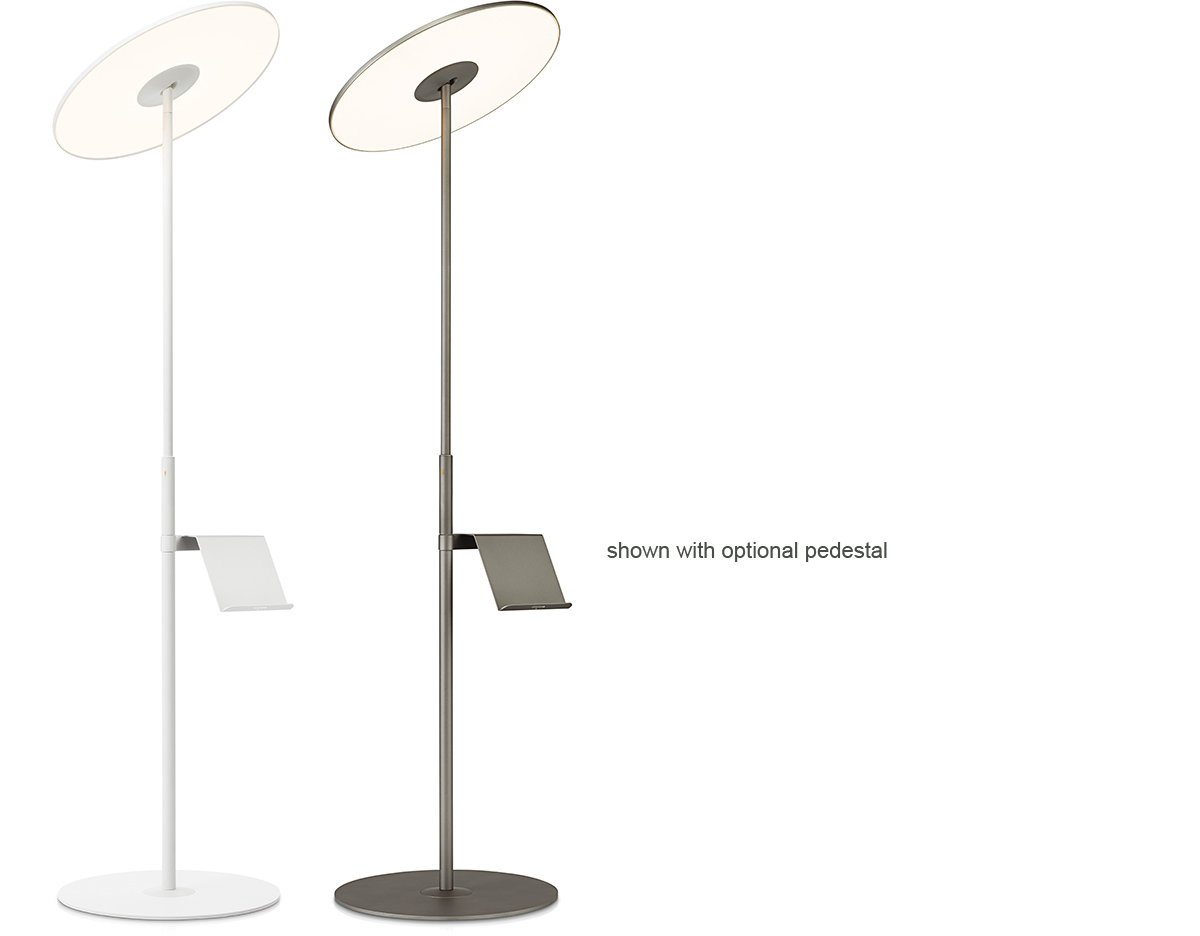 Pedestal Floor Lamps Circa Led Floor Lamp