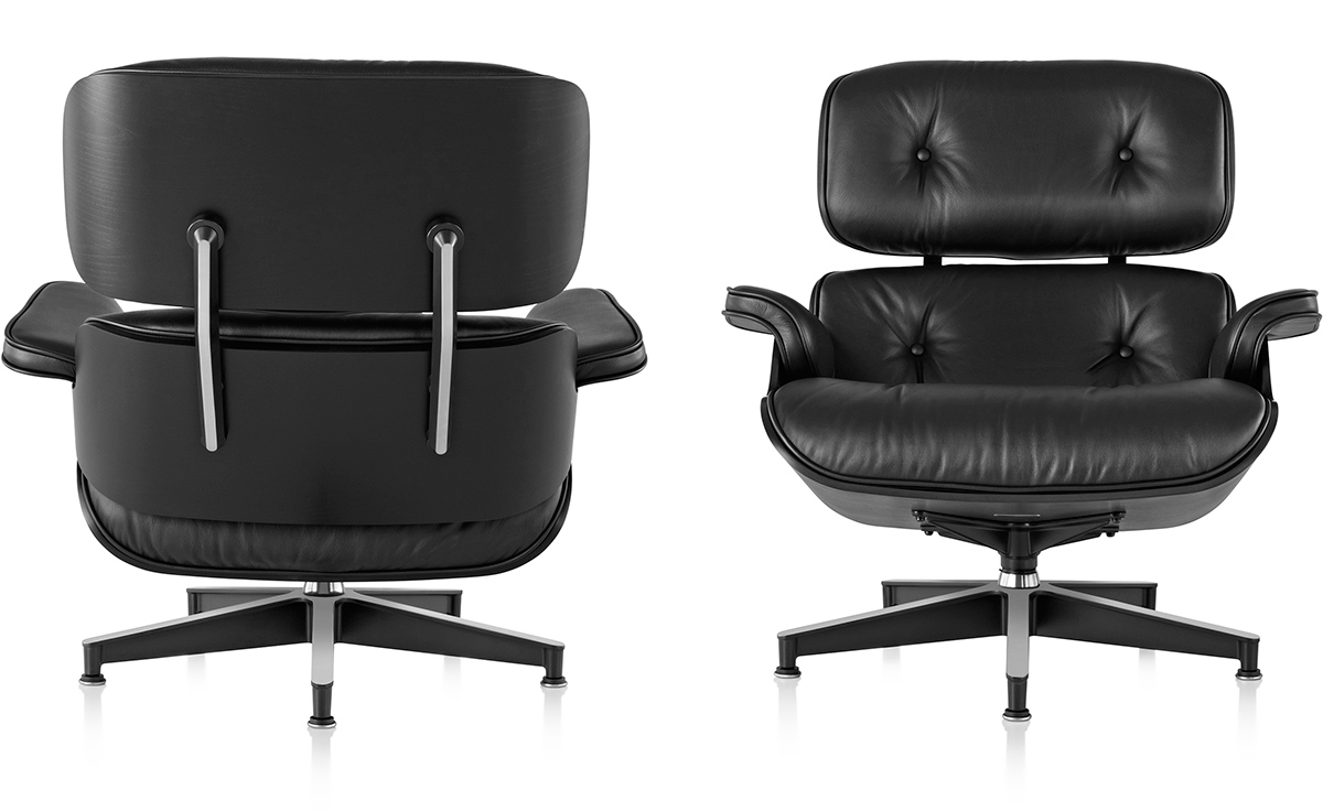 Vitra Eames Lounge Chair Black Ebony Eames Lounge Chair Without Ottoman