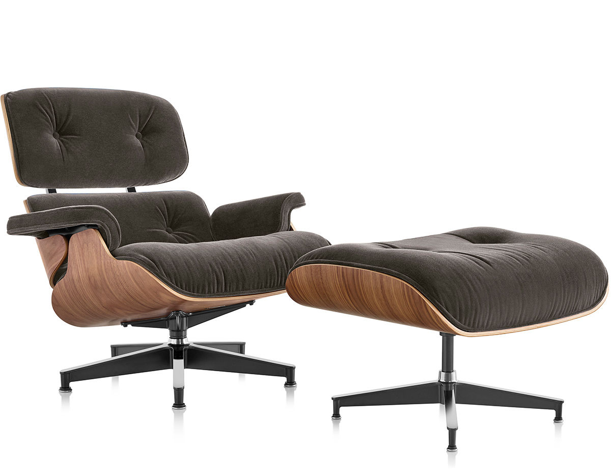 Eames Lounge Eames® Lounge Chair & Ottoman In Mohair Supreme