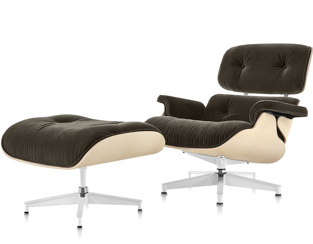 Eames Chairs Qld Eames Lounge Chair And Ottoman In Mohair Supreme