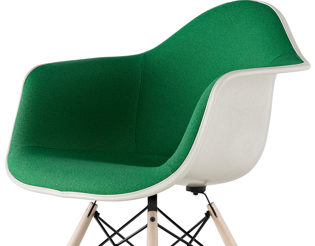 Eames Arm Chair Eames® Upholstered Armchair With Dowel Base - Hivemodern.com