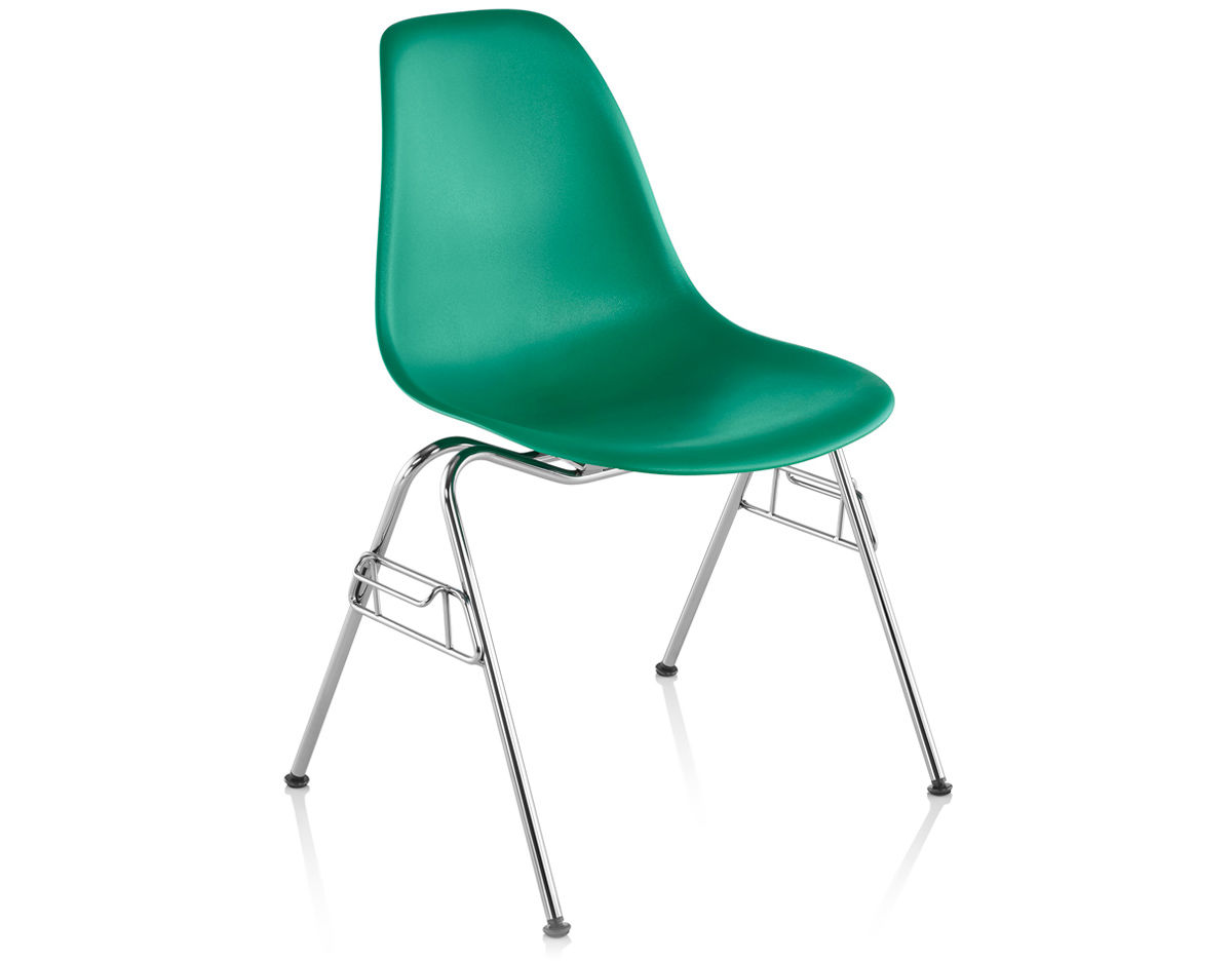 Eames Plastic Chair Eames Molded Plastic Side Chair With Stacking Base