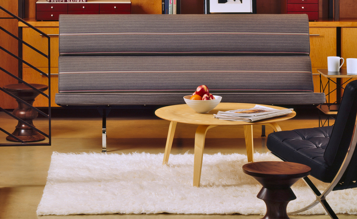 Panton Chair Classic Eames® Molded Plywood Coffee Table With Wood Base