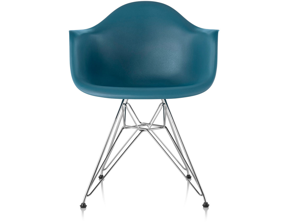 Charles Eames Herman Miller Chair Eames® Molded Plastic Armchair With Wire Base - Hivemodern.com