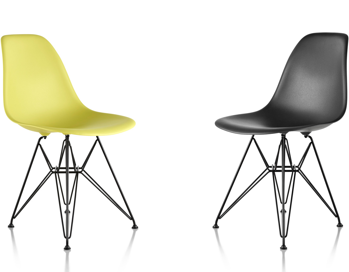 Dsr Chair Eames® Molded Plastic Side Chair With Wire Base