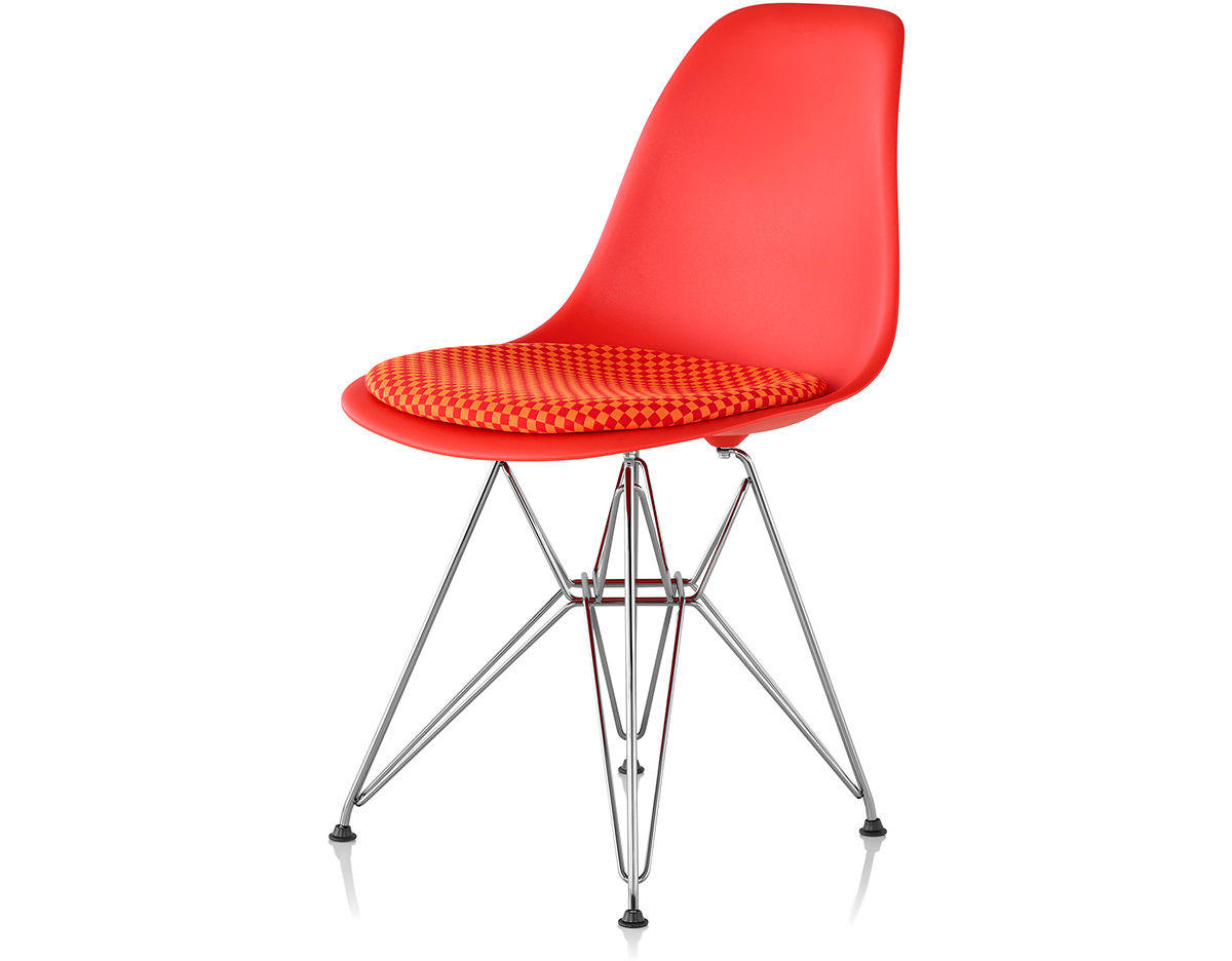 Eames Wire Base Side Chair With Seat Pad Hivemodern Com - Eames Chair Wire