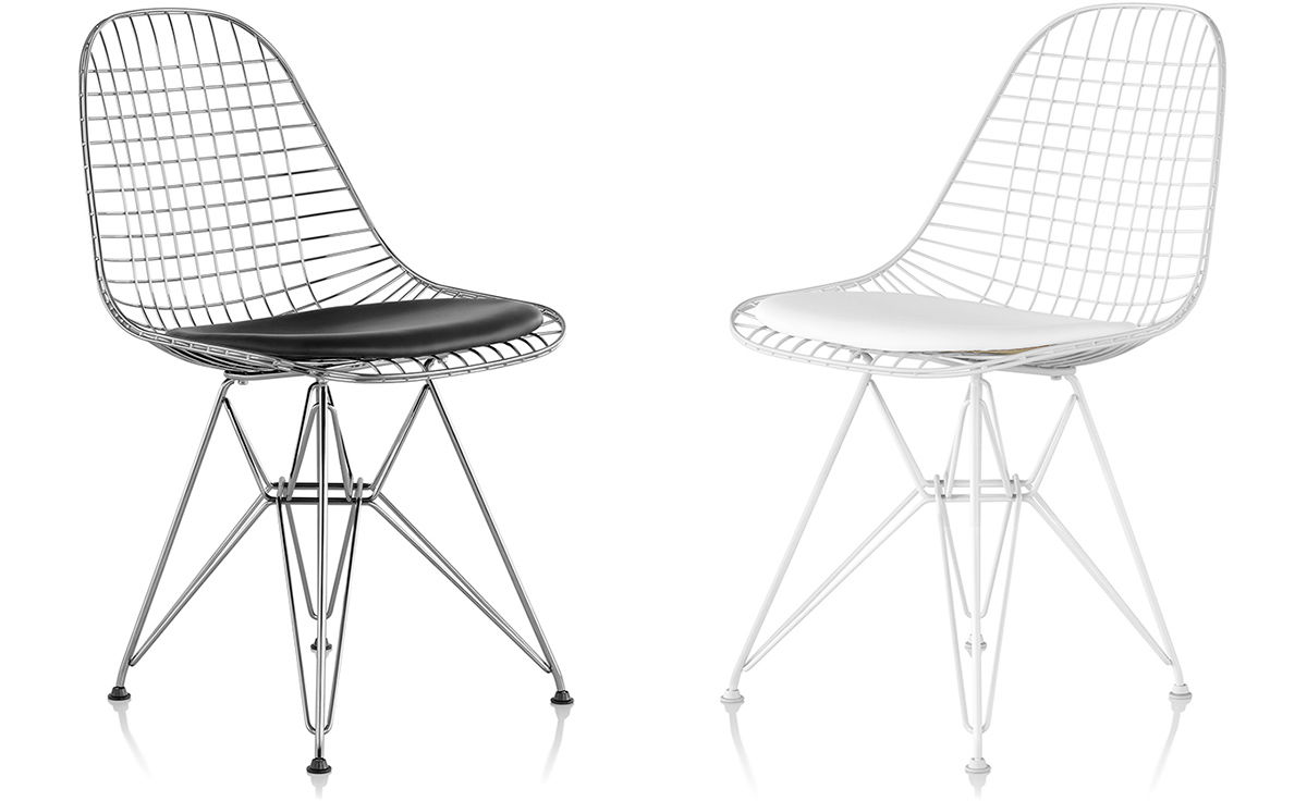 Eames Wire Chair With Wire Base Hivemodern Com - Eames Chair Wire