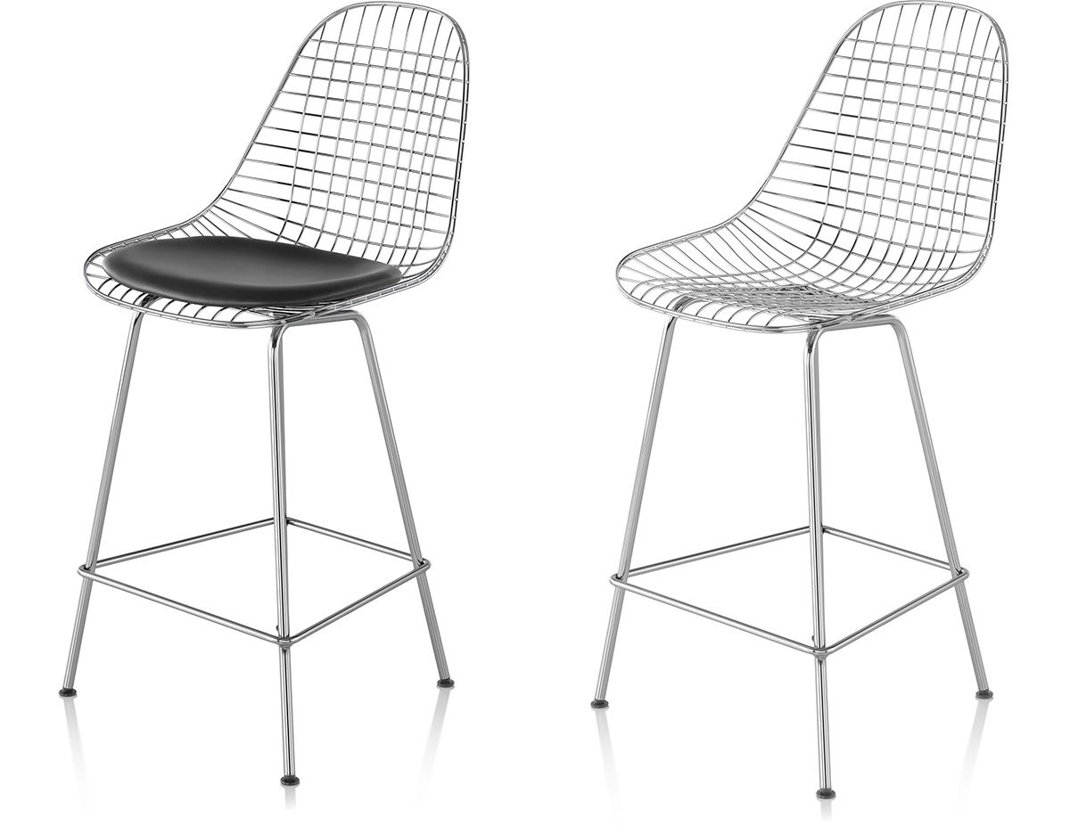 Rocking Chair Eames Eames® Wire Stool - Hivemodern.com