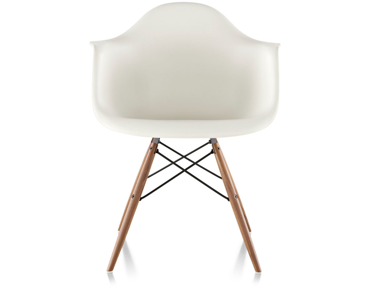 Eames Chair Beige Eames Molded Plastic Armchair With Dowel Base