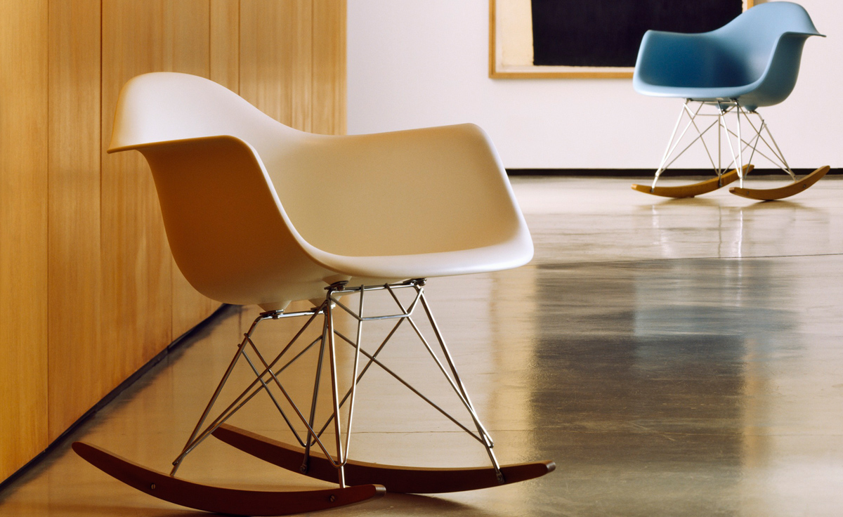Plastic Armchair Eames® Molded Plastic Armchair With Rocker Base