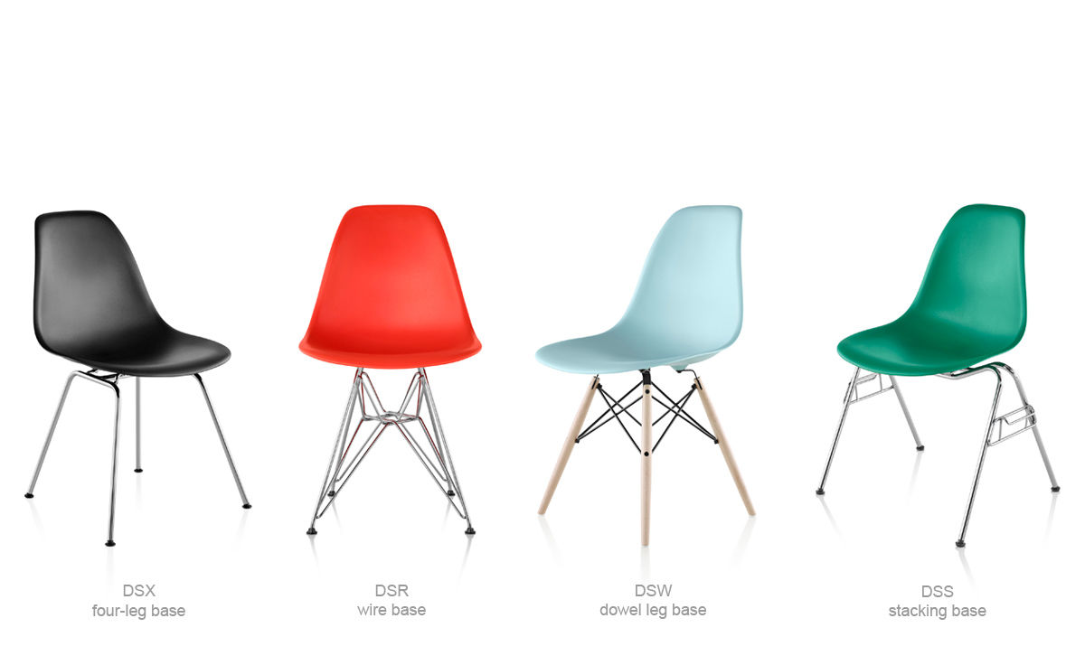 Dsw Eames Stuhl Eames® Molded Plastic Side Chair With Dowel Base - Hivemodern.com