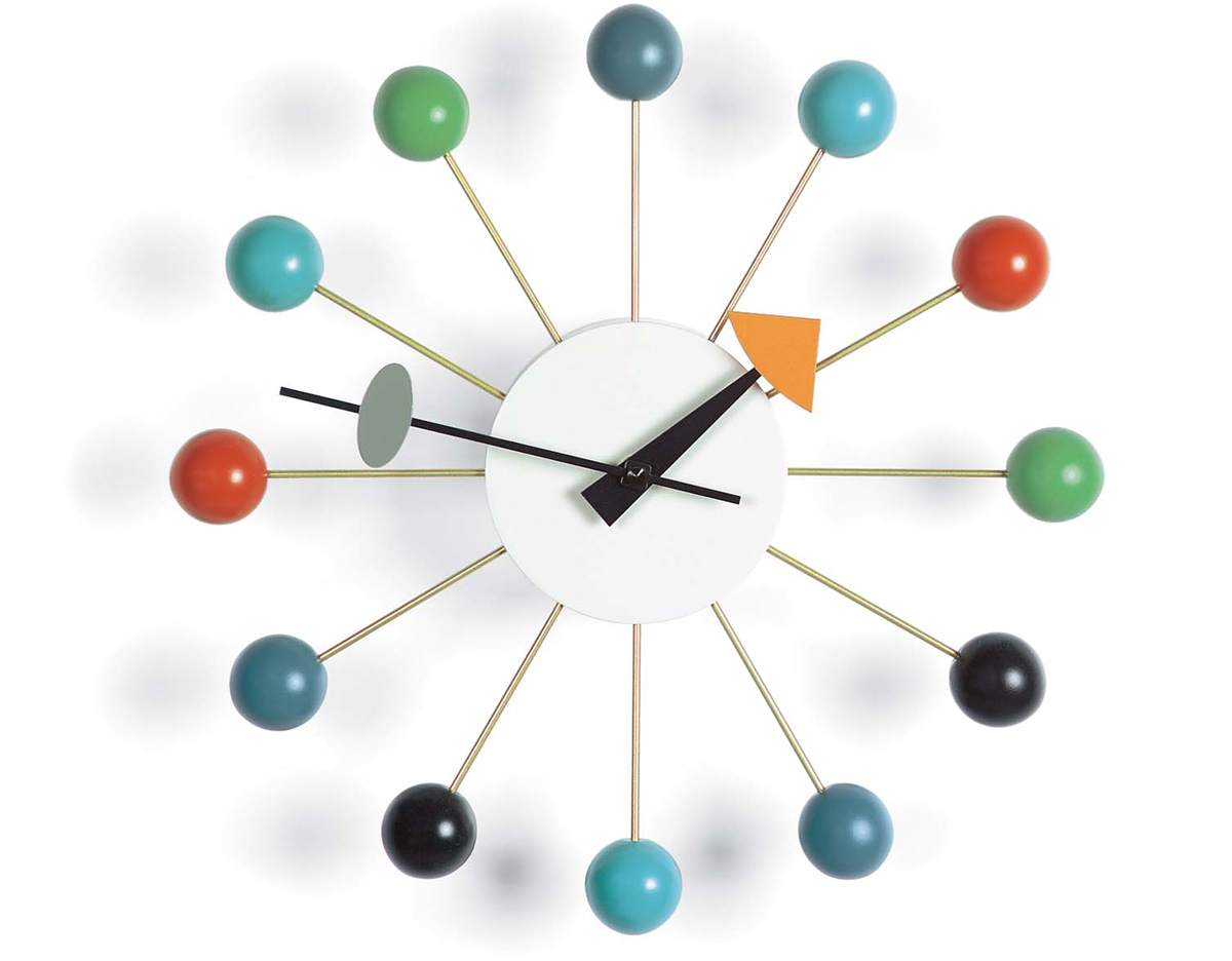 Vitra Ball Clock George Nelson Ball Clock In Multicolor - Hivemodern.com