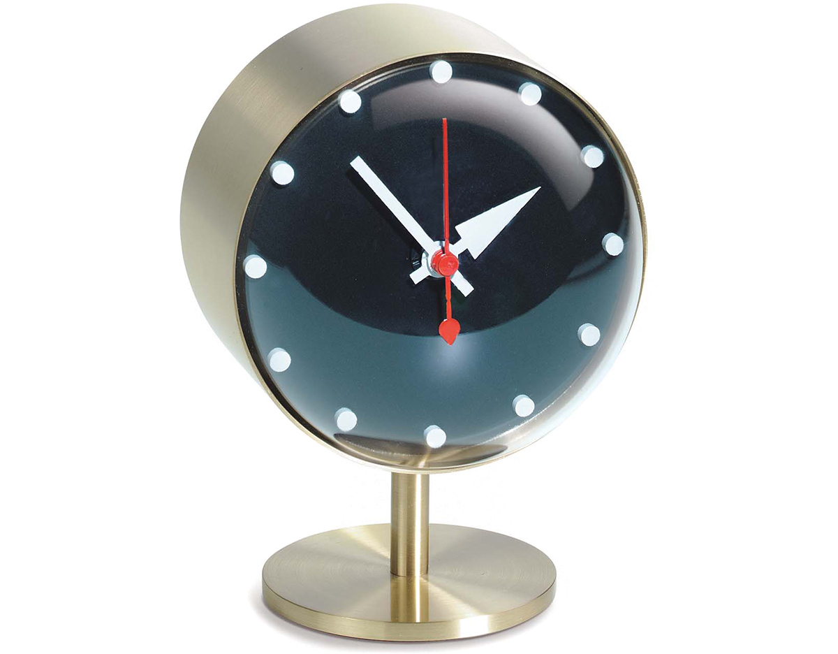 Table Clock Modern George Nelson Night Desk Clock Hivemodern