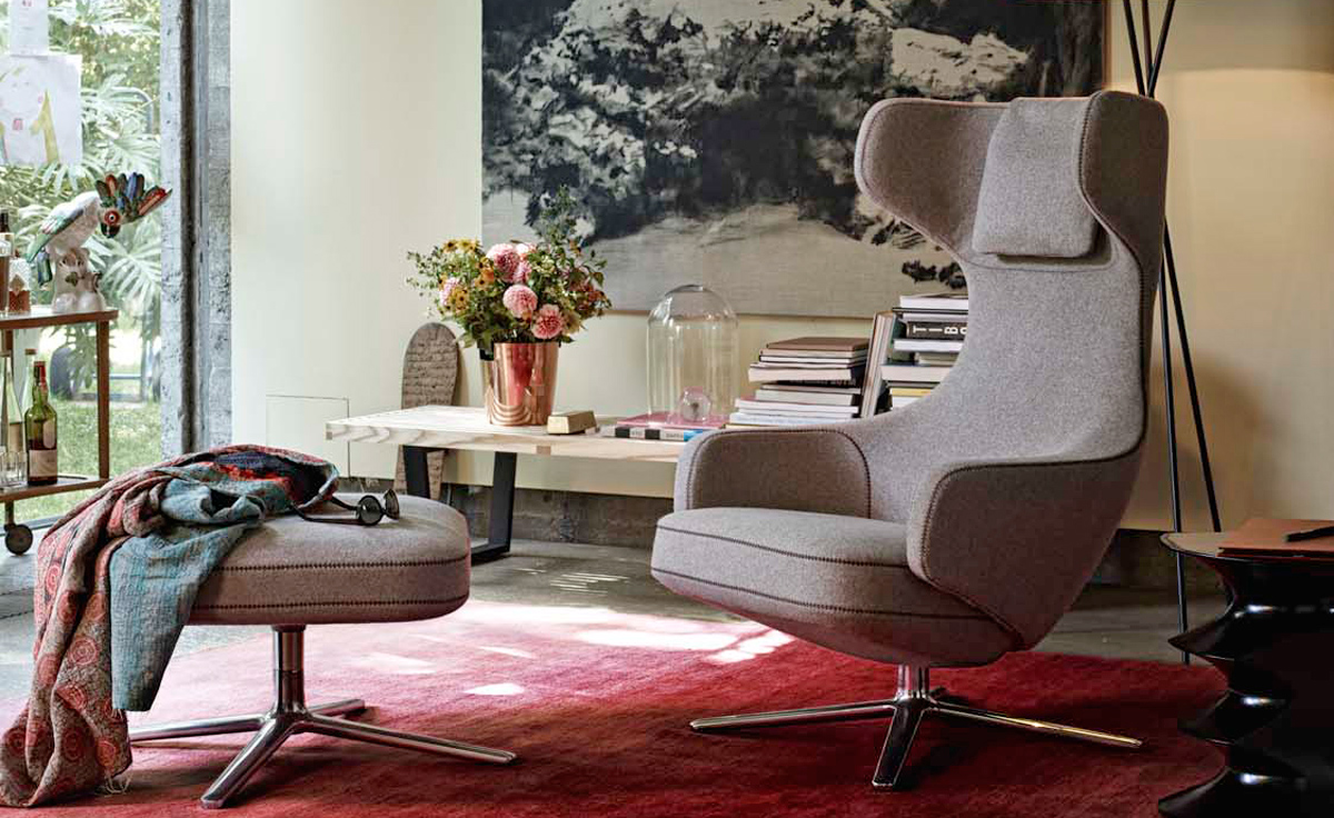 Eames Design Grand Repos Lounge Chair & Ottoman - Hivemodern.com