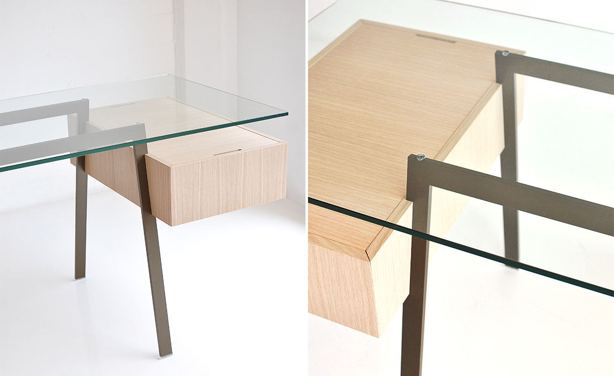 Schreibtisch Design Sale Homework 1 Desk With Glass Top