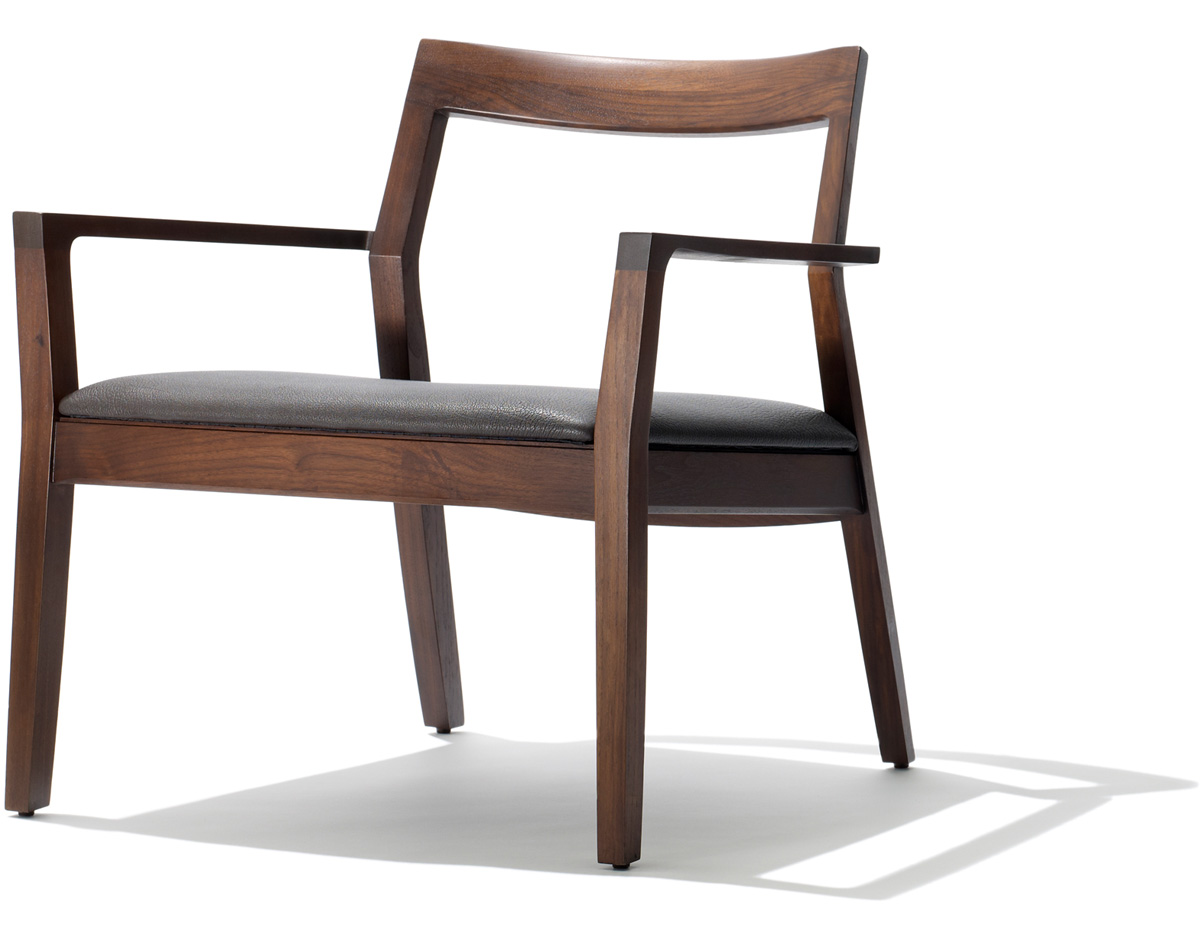 Sessel Gepolstert Krusin Lounge Arm Chair With Upholstered Seat - Hivemodern.com