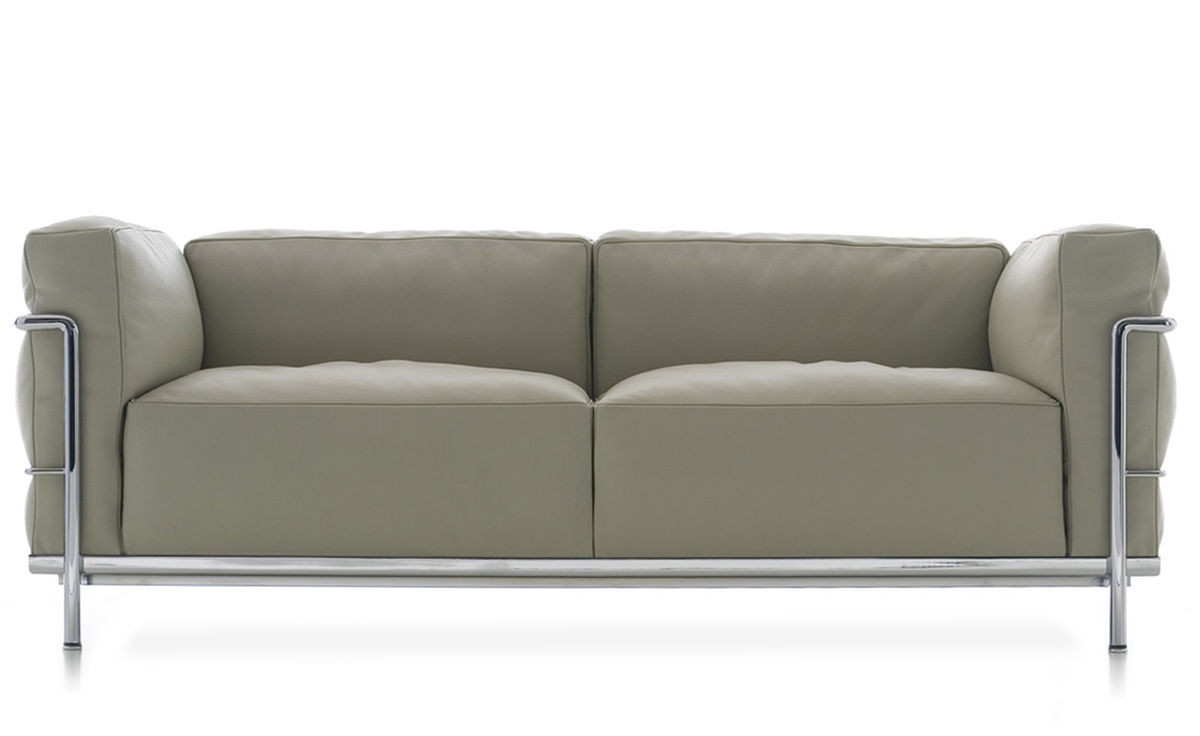 Sofa Le Corbusier Le Corbusier Lc3 Two Seat Sofa With Down Cushions ...