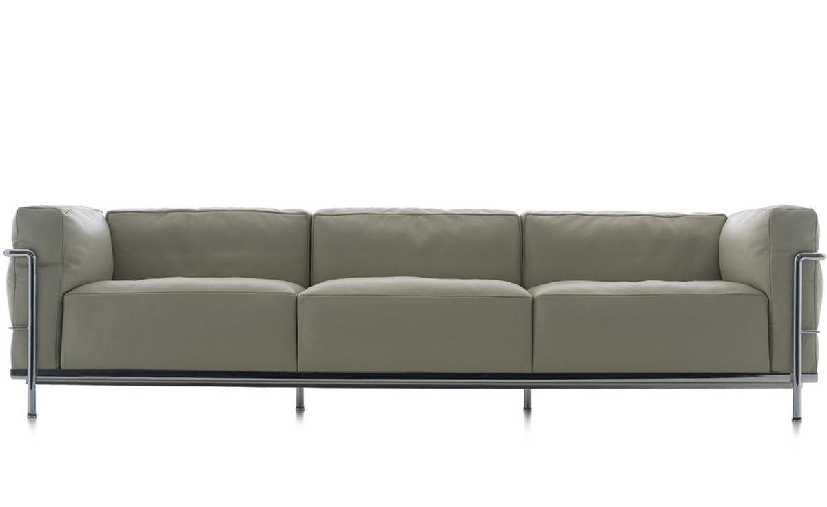 Sofa Le Corbusier Le Corbusier Lc3 Three Seat Sofa With Down Cushions ...