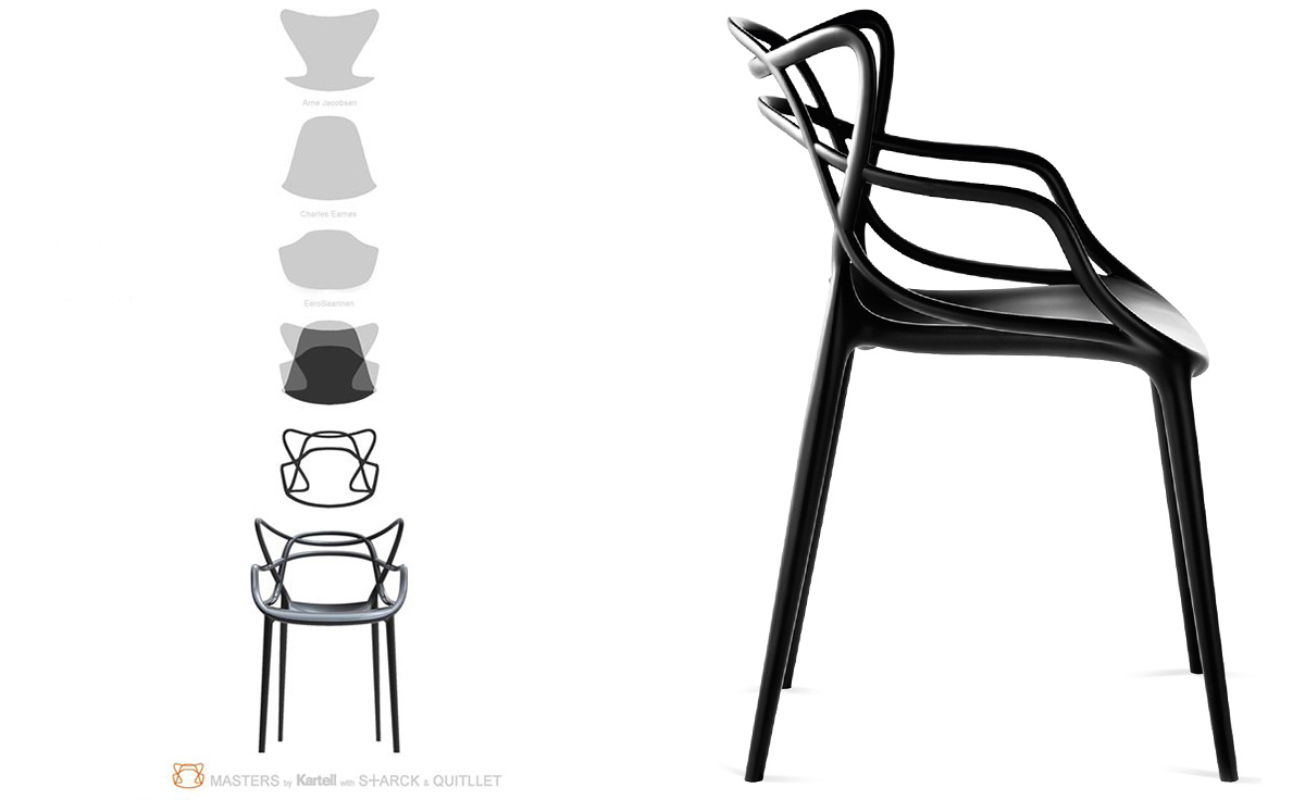 Masters Kartell Masters Chair 4 Pack Special Price - Hivemodern.com