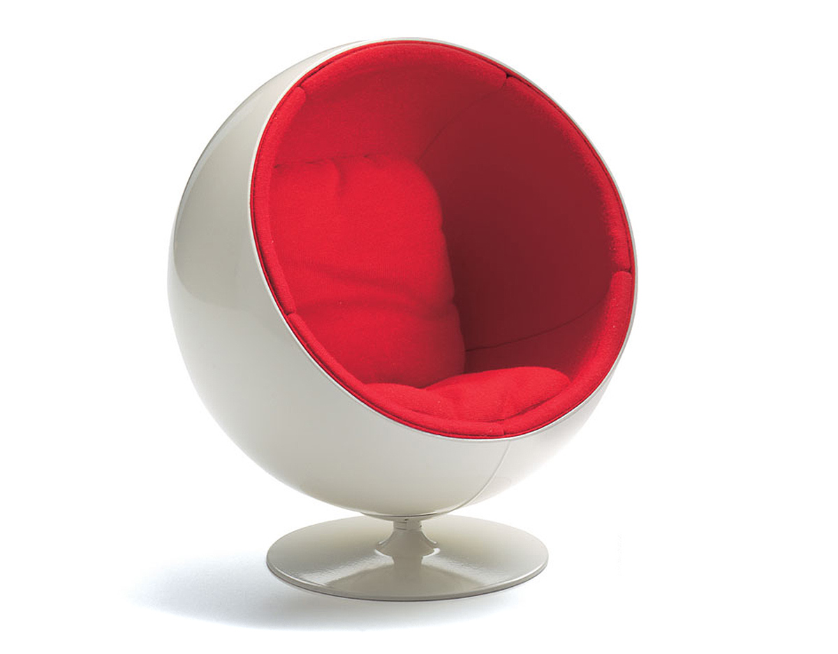 Mid Century Lounge Sessel Miniature Ball Chair - Hivemodern.com