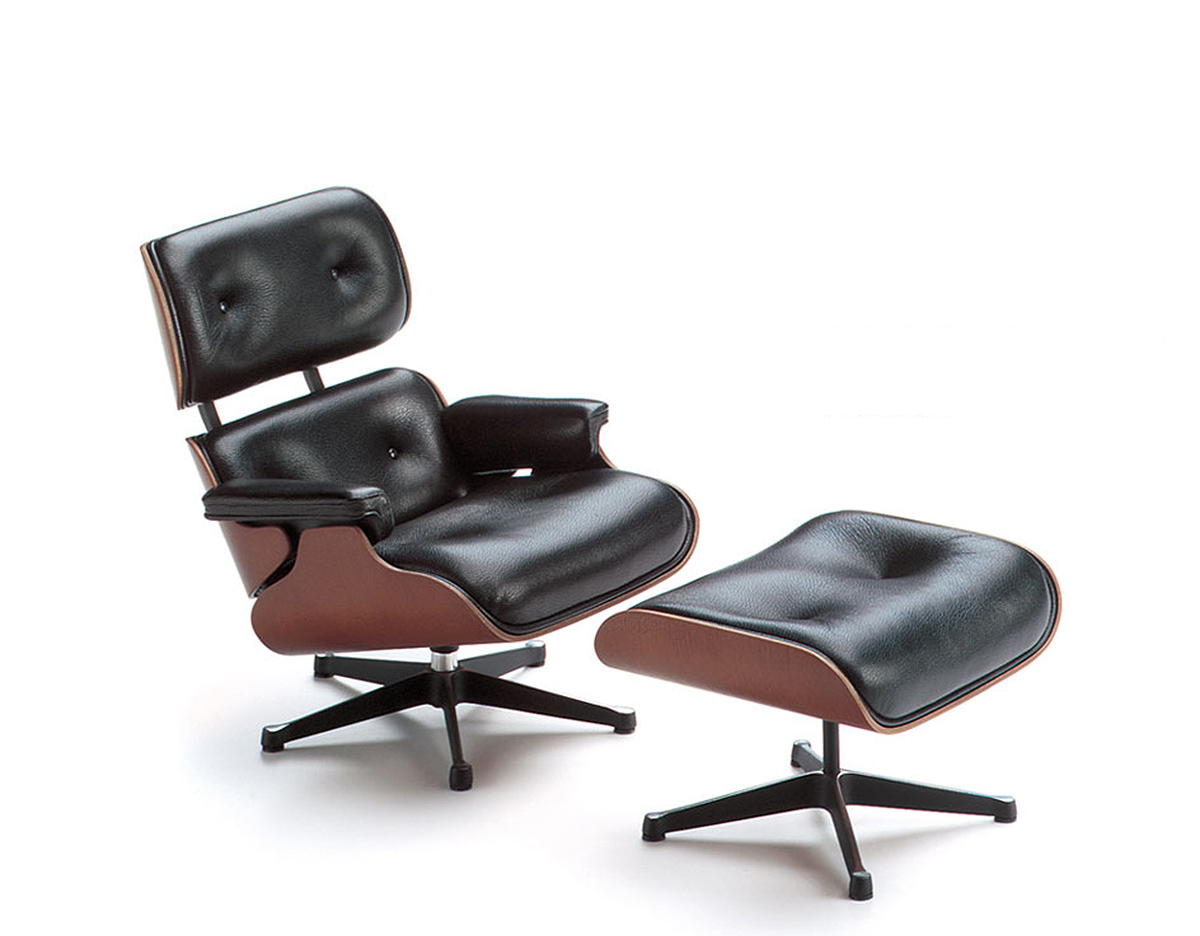 Lounge Chair Charles Eames Miniature Eames Lounge + Ottoman - Hivemodern.com