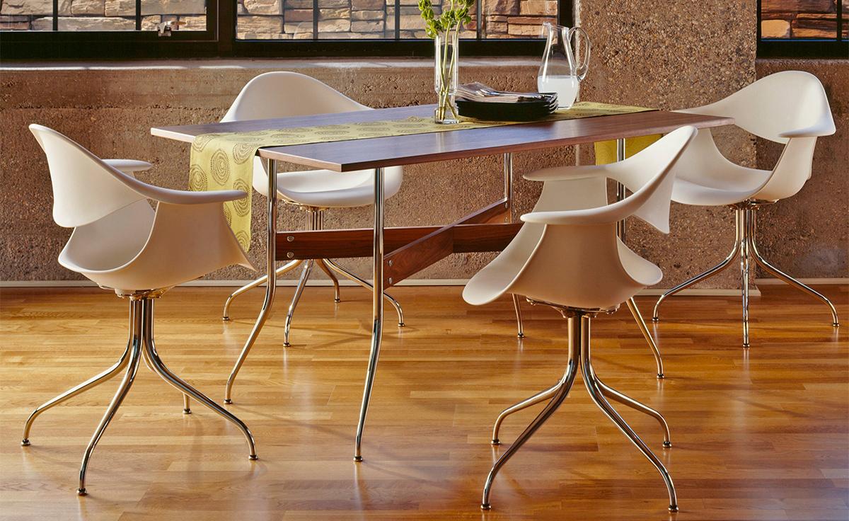 Nelsontm Swag Leg Rectangular Dining Table Hivemoderncom