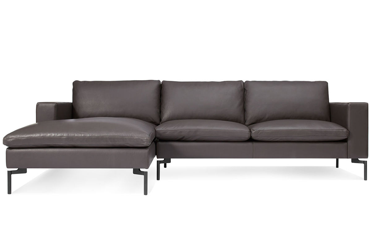 Otto Sofa Braun New Standard Leather Sofa With Chaise