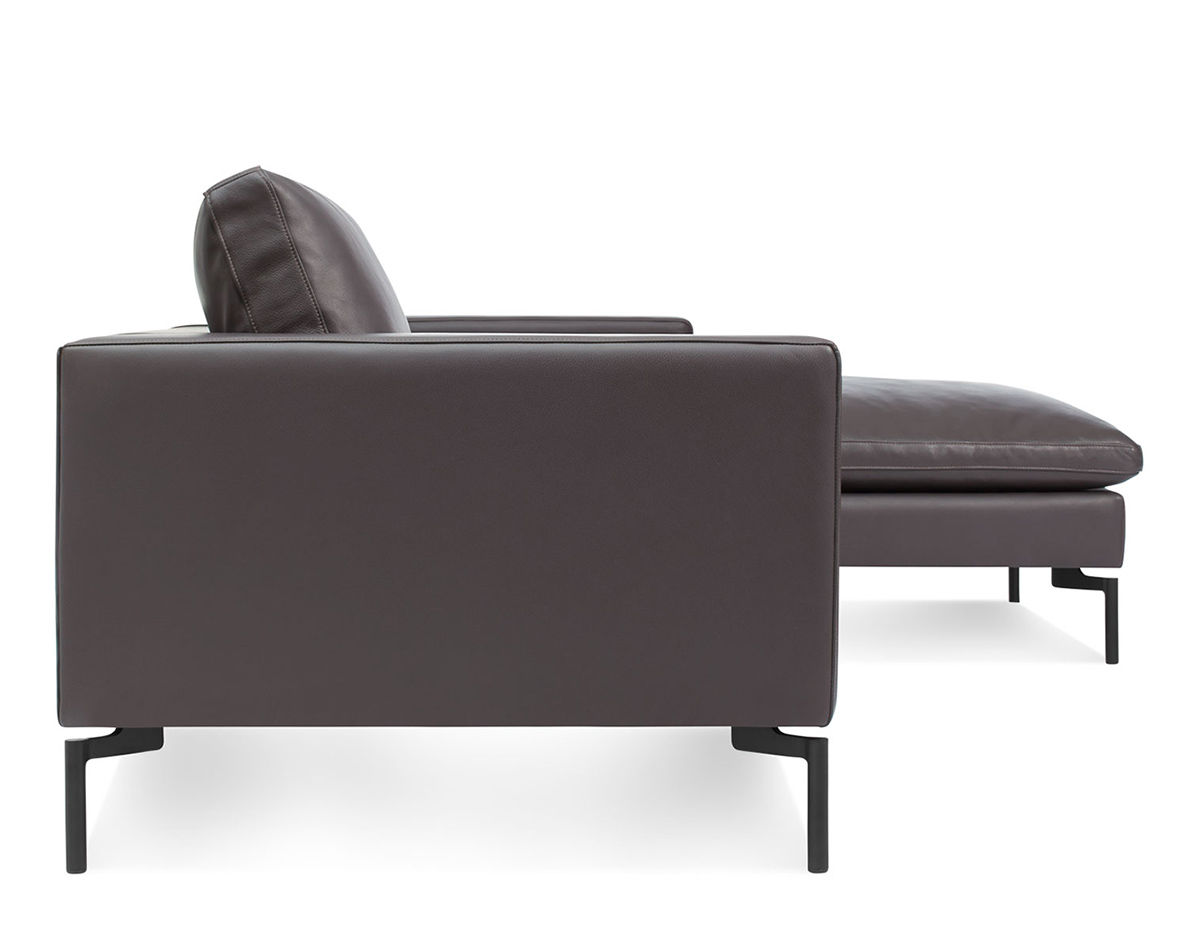 Ludwig Big Sofa New Standard Leather Sofa With Chaise Hivemodern