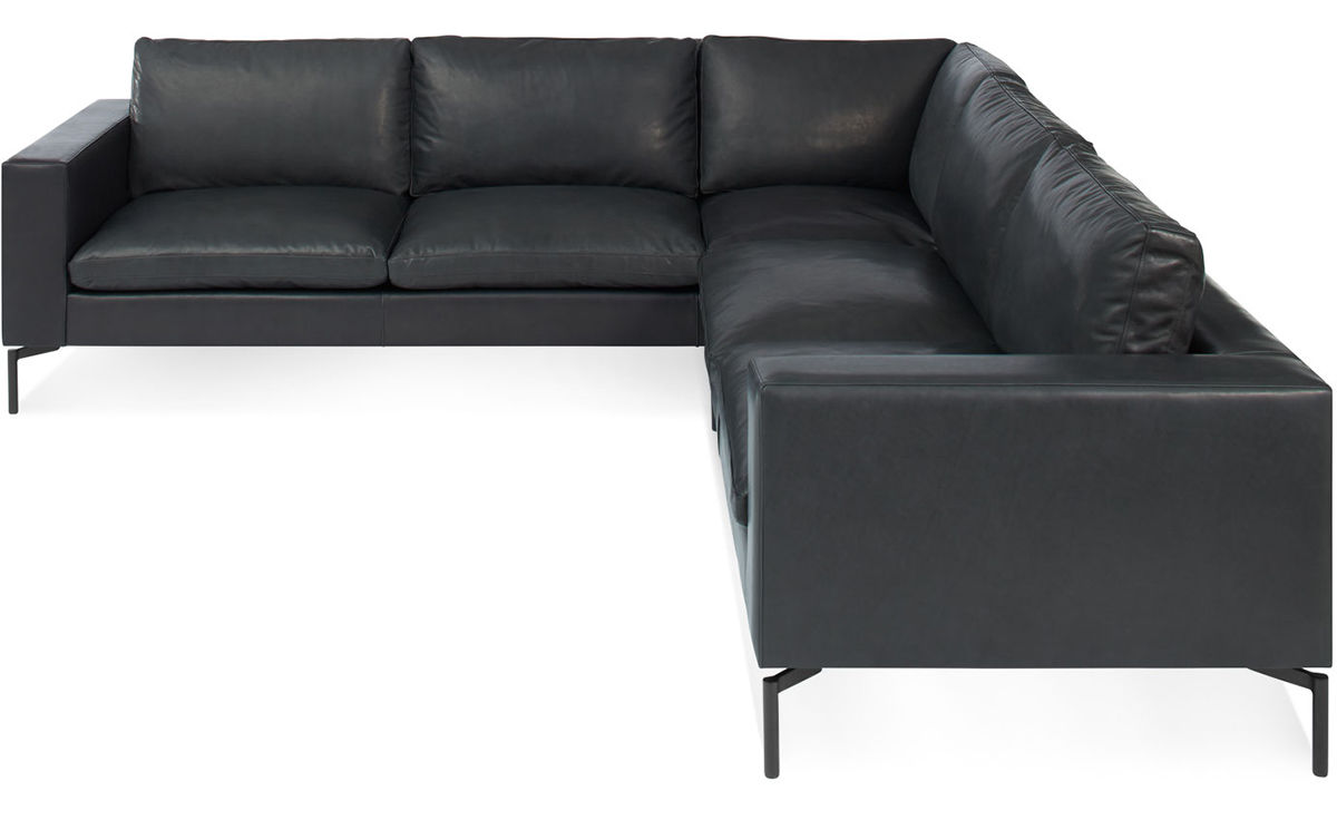 Panton Chairs New Standard Small Sectional Leather Sofa - Hivemodern.com