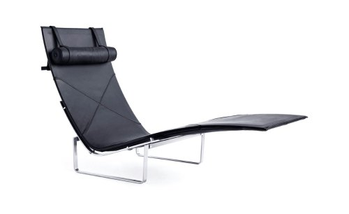 Medium Of Leather Chaise Lounge