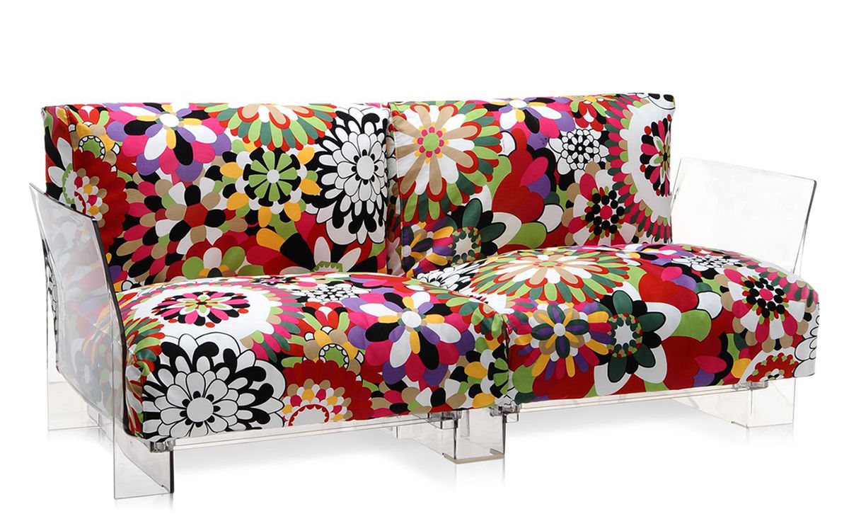 Kartell Sofa Pop Missoni 2 Seat Sofa