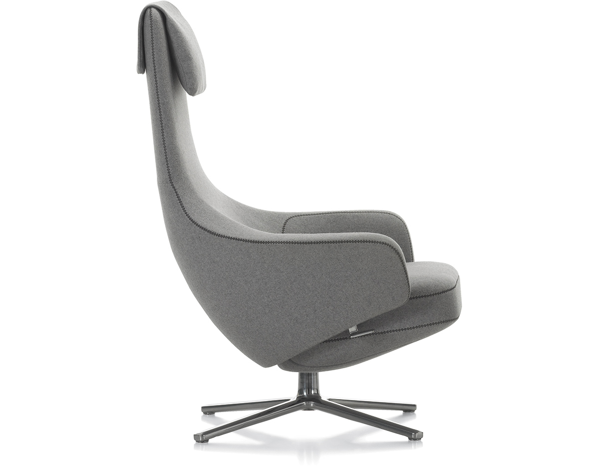 Vitra Ohrensessel Repos Lounge Chair & Ottoman - Hivemodern.com