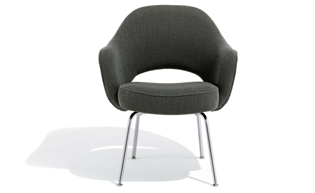 Designer Sofas Usa Saarinen Executive Arm Chair With Metal Legs - Hivemodern.com