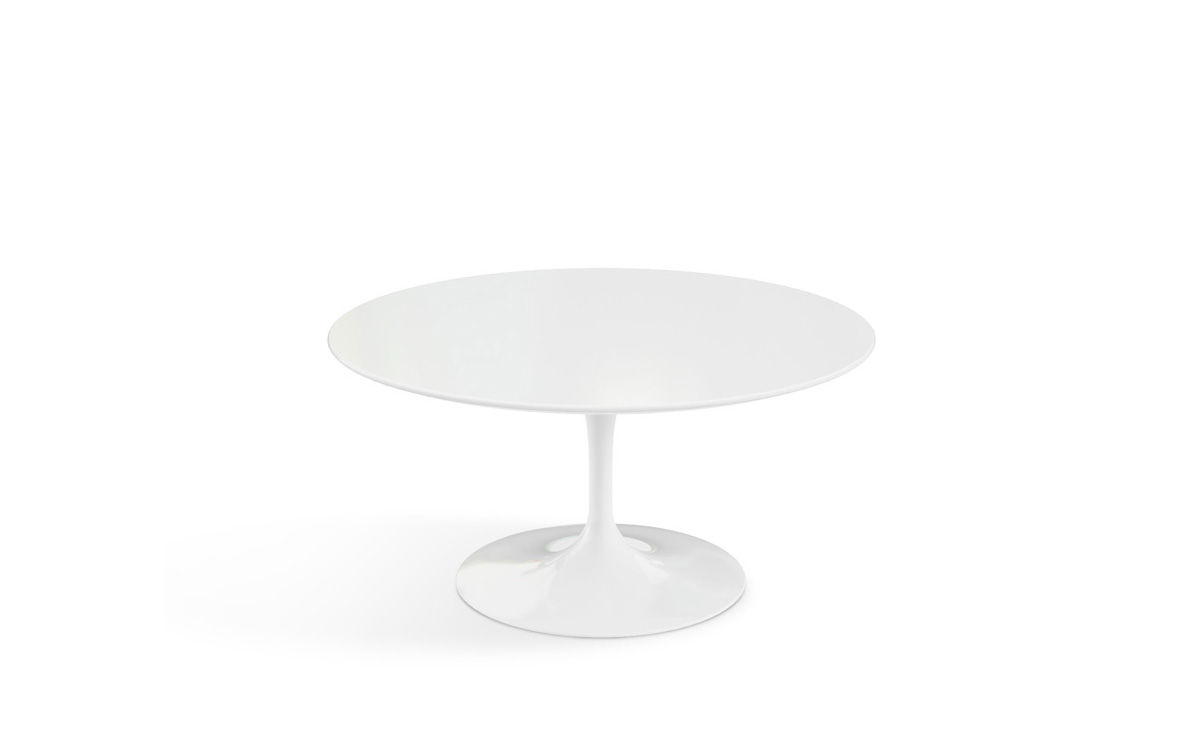 Knoll Table Saarinen Coffee Table White Laminate