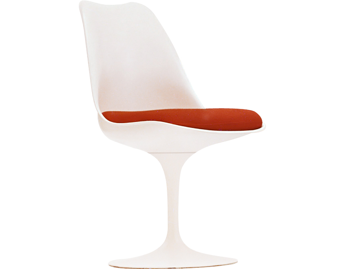 Knoll Saarinen Saarinen White Tulip Side Chair Hivemodern