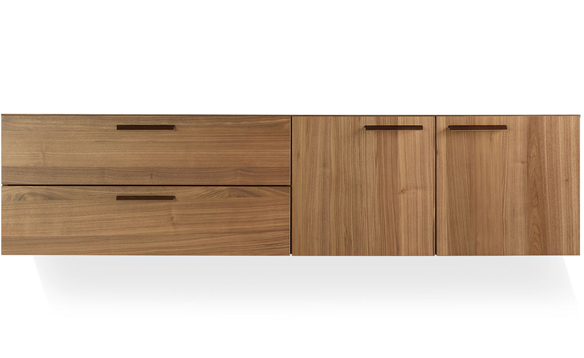 Shale 2 Door 2 Drawer Wall Mounted Cabinet Hivemoderncom