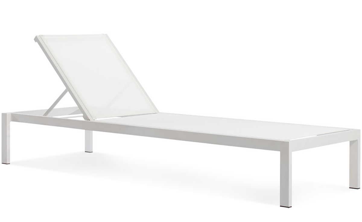 White Plastic Sun Loungers Skiff Outdoor Sun Lounger