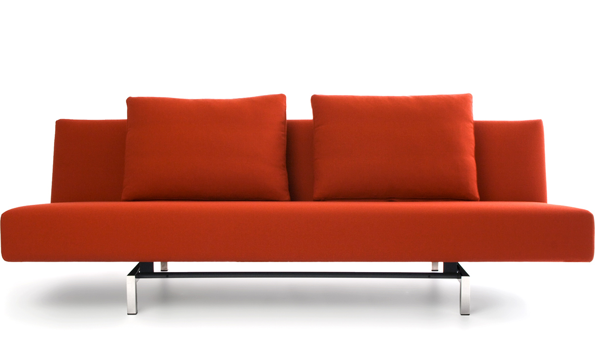 Sofa Modern Sleeper Sofa With 2 Cushions