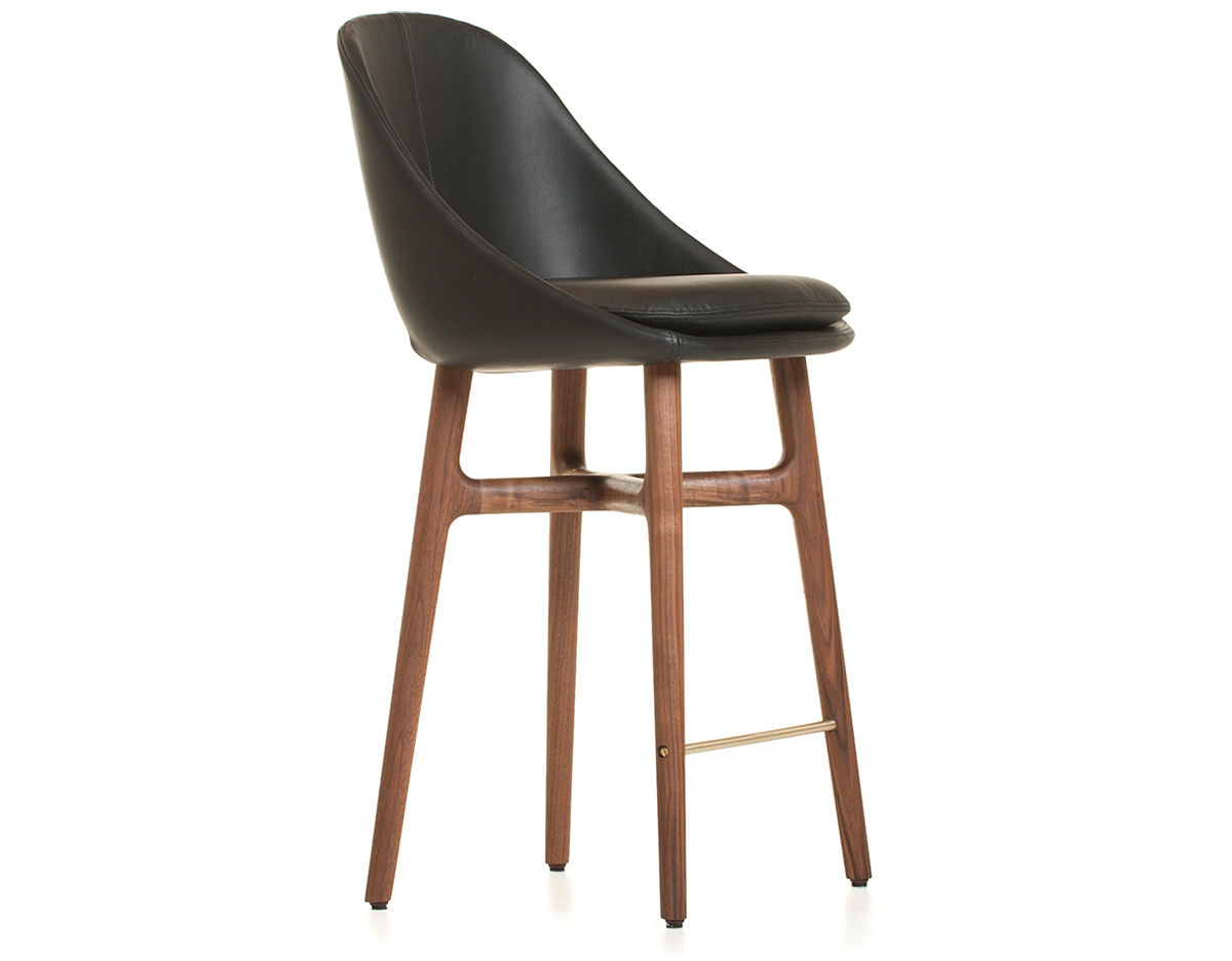 Contemporary Breakfast Bar Stools Solo Breakfast Bar Stool 750p Hivemodern