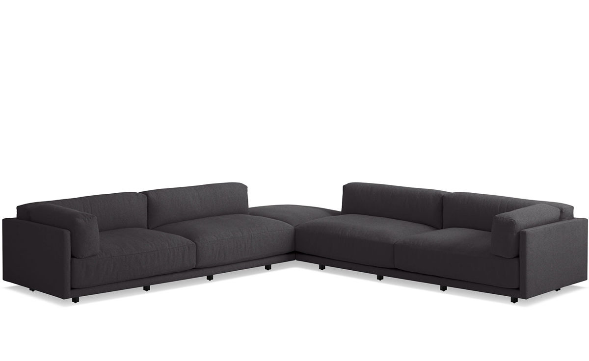 Sofa L Images Sunday Backless L Sectional Sofa