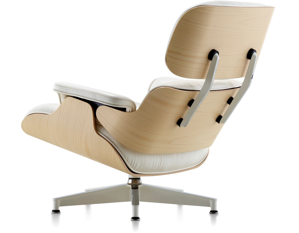 Eames Lounge White Ash Eames® Lounge Chair Without Ottoman - Hivemodern.com