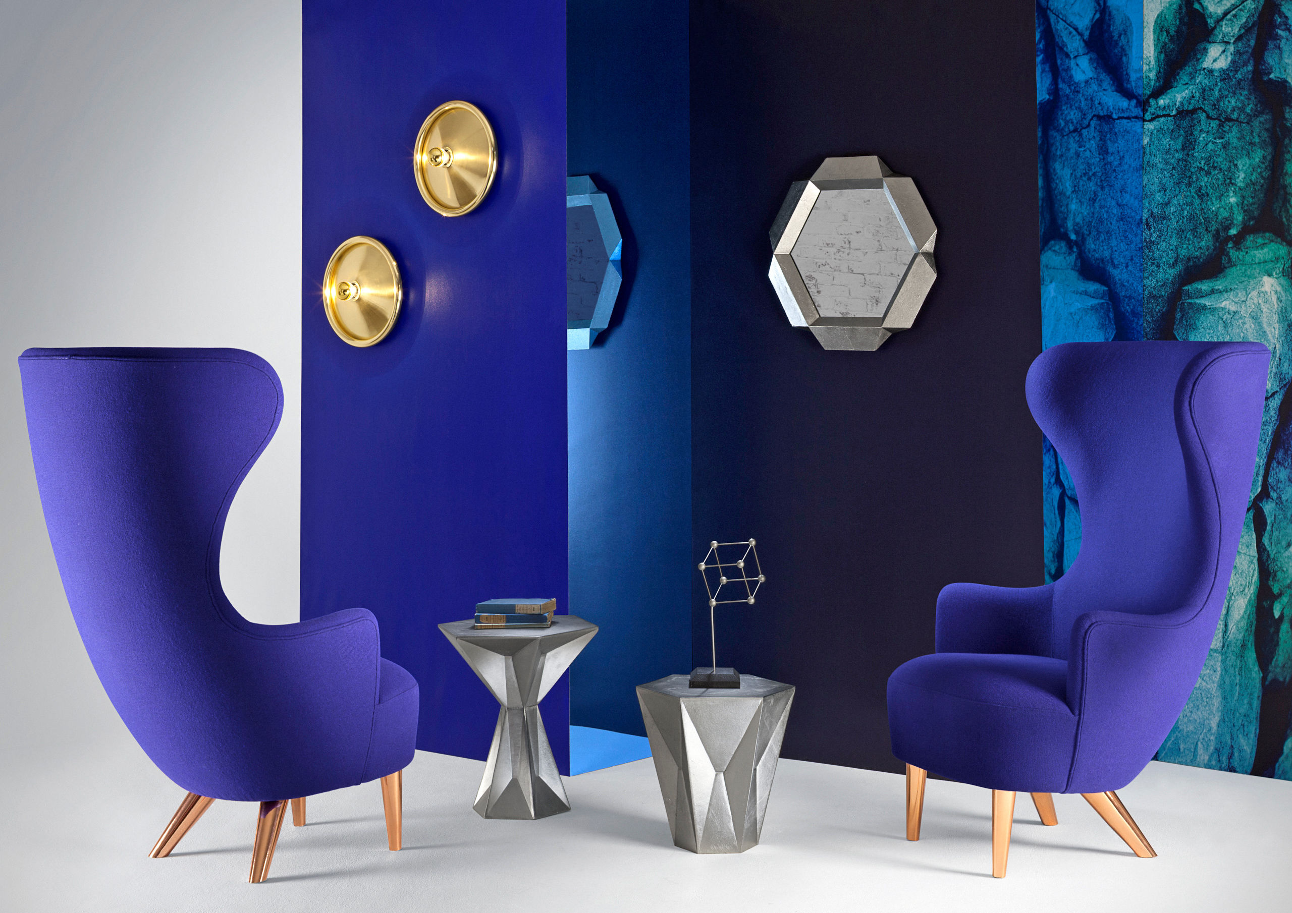 Panton Chairs Wingback Lounge Chair - Hivemodern.com